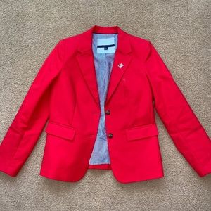 Red Tommy Hilfiger woman's jacket size 8